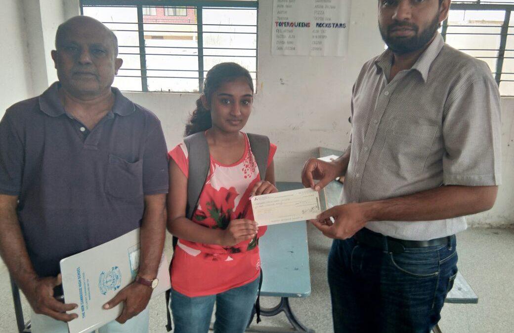ShilpaShree gets scholarship from lifeline foundation