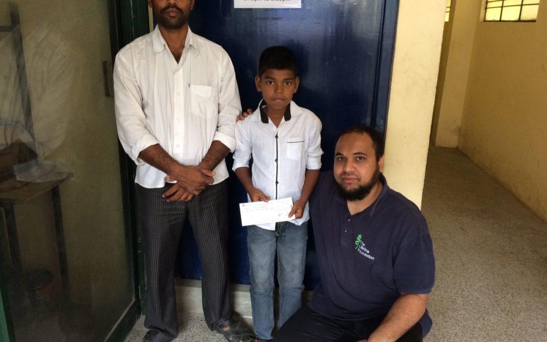 Lifeline foundation helps boy in BMT treatment