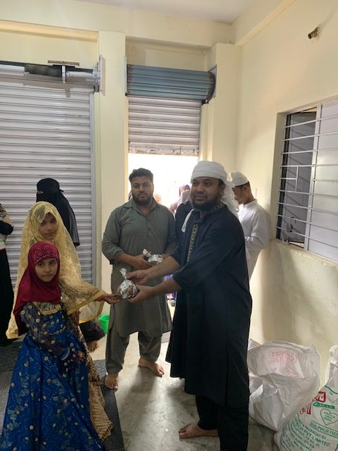 August 2019 – Meat Distribution to the poorest of the poor at their doorstep on Eid- ul- Adha