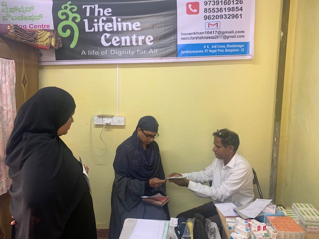 August-2019: Free Eye check-up at the newly opened Lifeline Centre