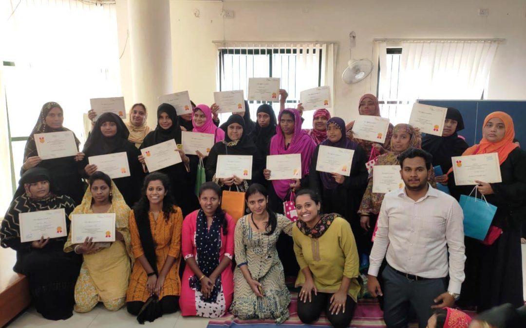 Dec 2019 – 21 Women successfully completed Entrepreneurship Training Program at Tilaknagar
