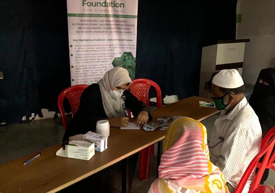 August 2020 – Medical camp at BET by Lifeline Foundation