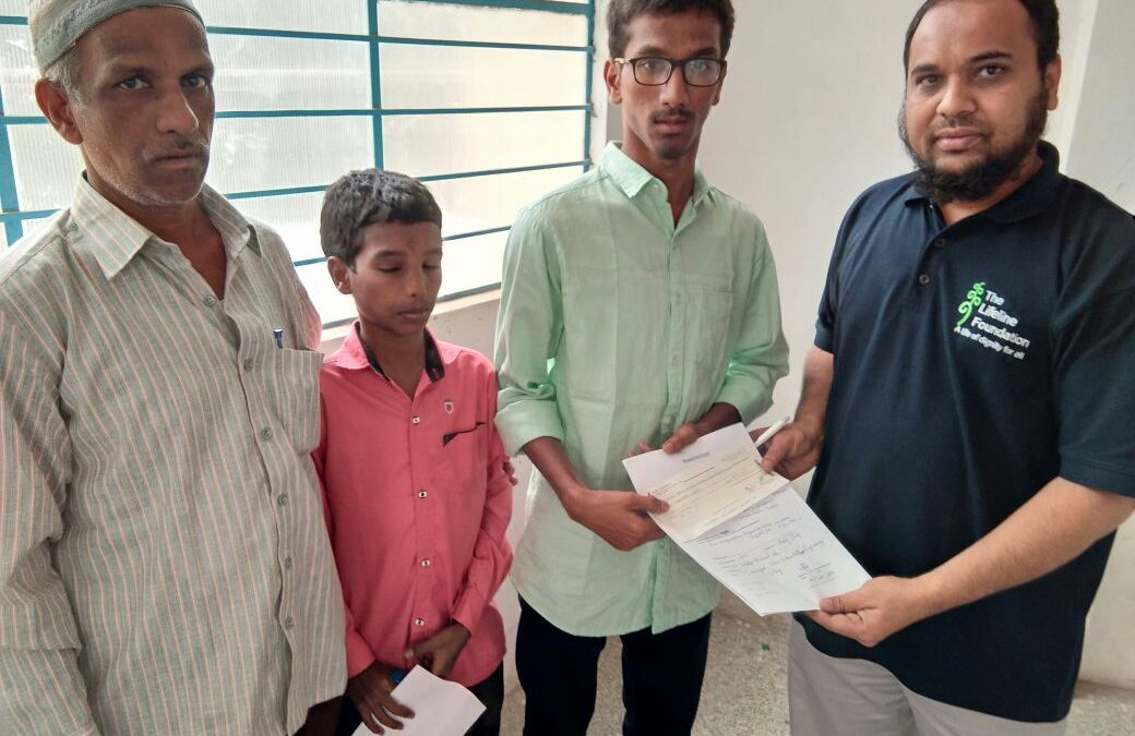 Meritorious Student Vaseem khan with Challenges surrounding him