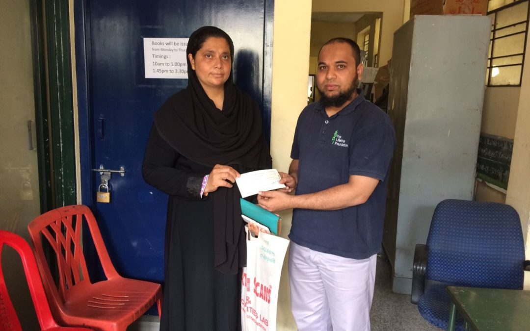 Medical help to lifeline foundation beneficiary due to urgency