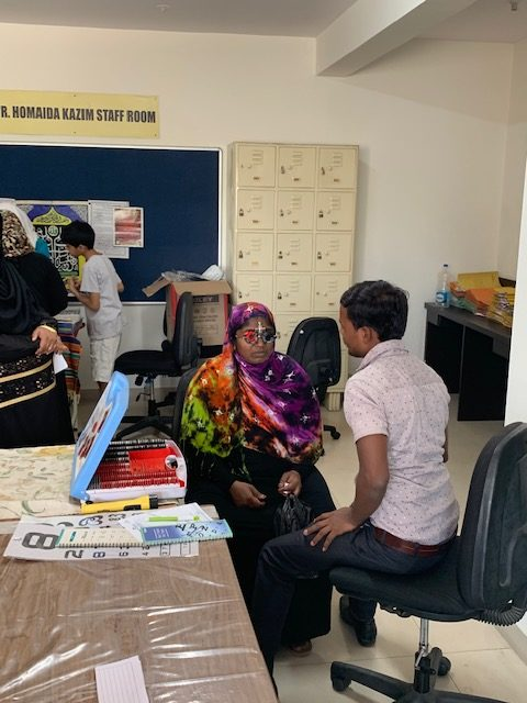 March 2019: Eye Screening Camps held for our beneficiaries at Goripalya and Mominpura branches