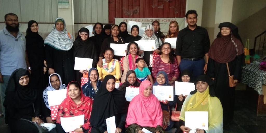 Nov 2019 – 24 Women successfully completed Entrepreneurship Training Program from DJ Halli branch