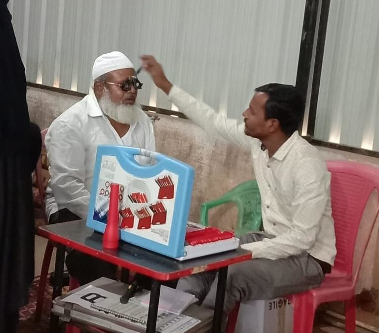 Dec 2019 – Free eye check up camp at Saraipalya; 110 patients benefitted