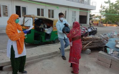 29th March 2020 – Lifeline & Humane Touch distributed 42 Food kits to construction laborers at Veerannapalya
